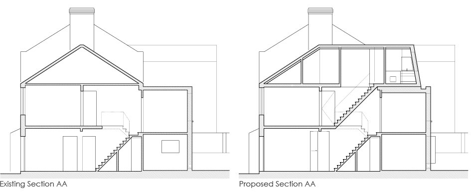 Loft_Extension_greyhound_road_Section_AA