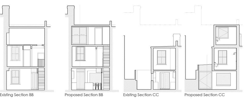 Loft_Extension_greyhound_road_Section_BB_CC