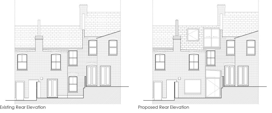 Loft_Extension_greyhound_road_rear_Elevation