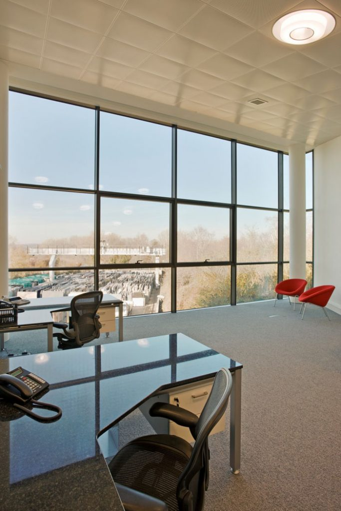 Troy Wharf Office Building design by Mark Fairhurst Architects in Rickmansworth, interior design